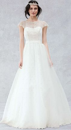 Gorgeous ball gown for your second or third or whatever wedding - read about woodland weddings #woodland #wedding #dresses - in my article - http://www.boomerinas.com/2014/10/17/woodland-wedding-dresses-ideas-for-wedding-2-or-3-or-4-or-whatever/