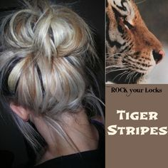 Tiger Stripes Hair Colour Inspiration - Blonde Brown Black ♡ Rock your Locks