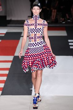 Alexander McQueen Spring 2014 Ready-to-Wear Collection Slideshow on Style.com interesting check placemnt