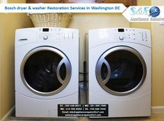 Get your Bosch dryer & washer repair in DC by our experienced and skilled professionals and make your life easy. We offer restoration services without extra charge in the evenings and weekends too. For more info - http://www.appliancerepairs24x7.com/appliance-repair/washer-dryer-repair/