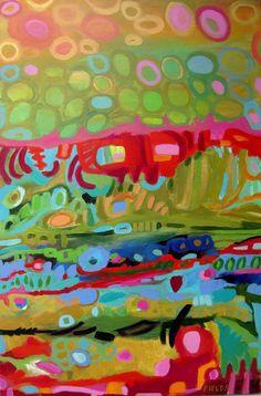 Bohemian Abstract Art 24x36 Beautiful by karenfieldsgallery, $300.00