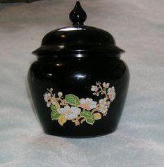 vintage AVON black glass