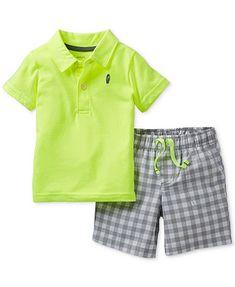 Carter S Baby Boys 3 Piece Shirt Bodysuit Amp Shorts Set