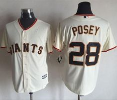 8762c371f Giants  28 Buster Posey Cream New Cool Base Stitched MLB Jersey Hunter  Pence