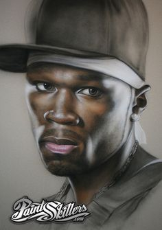 50 Cent, Fifty Cent, Airbrush T Shirts, Airbrush Art, Arte Hip Hop, Creation Art, Beautiful Love Pictures, Black Love Art, Drawing People