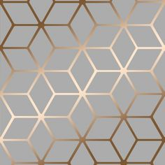 House of Alice Cubic Shimmer Metallic Wallpaper Grey Copper - Wallpaper from I Love Wallpaper UK Grey Copper Wallpaper, Metallic Wallpaper, Geometric Wallpaper, Textured Wallpaper, Kitchen Wallpaper Copper, Hall Wallpaper, Office Wallpaper, Brick Wallpaper, Bathroom Wallpaper