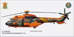 helicóptero cougar ume ejército de tierra