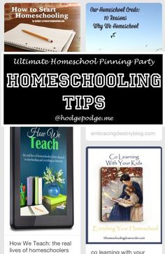 Homeschooling Tips at The Ultimate Homeschool Pinning Party