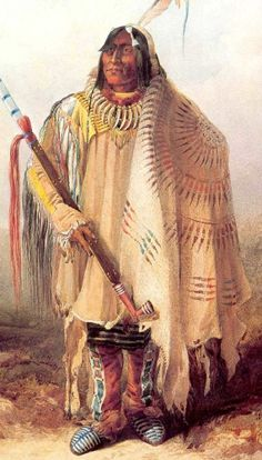 Buffalo Robes: There is some debate over the use of blue prior, to the advent of white traders, but there is some evidence of blue earth pigment, as well as duck guano, being used by the Blackfeet. Trader, Alexander Henry, listed 10 different pigments used by the Piegan Blackfeet in the early 1800s. These colours include; dark red, brownish red, deep yellow, light yellow, dark blue, light sky blue, lead colour, green, white, and charcoal. Primary hues were preferred for painting robes.