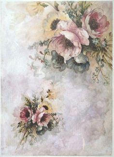 Ricepaper for Decoupage Decopatch Scrapbook Craft Sheet A/3 Vintage Roses