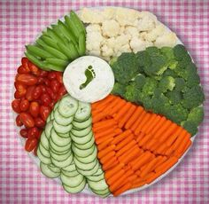 Ball Veggie Tray | DIY Pool Party Ideas for Teens