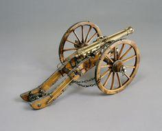 Canon de campagne de 8 livres, système Gribeauval ; Canon de campagne ; Affût pour canon de campagne ; Affût de campagne, pour canon de 8, système ; Maquette d'objet / 1 AR 18 | Musée national de la Marine
