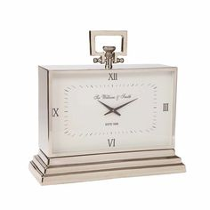 Large Nickel Desk Clock ,  , large