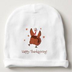 #cute #baby #beanies #babybeanies - #Happy Thanksgiving Funny Turkey Unisex Baby Beanie