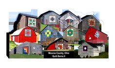 Monroe County, Ohio  Best of both worlds ~ old barns AND quilts!!