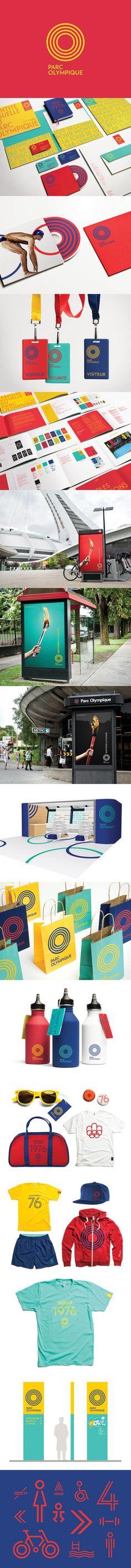 Montréal Olympic Park identity by lg2 #identity #branding #colors