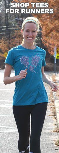 Girls Running Tees...awesome running gear at goneforarun.com