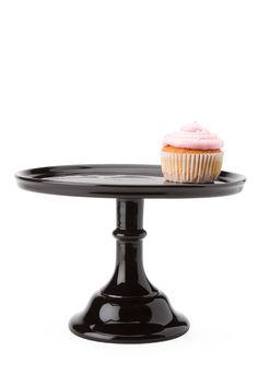Ceramic Cake Stand Black