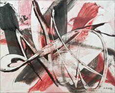 Karl-Otto Götz: wax on canvas, 1954