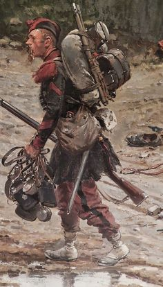 Military Art, Military History, Military Uniforms, Edouard Detaille, Empire Ottoman, Warring States Period, Art Of Fighting, Military Modelling, French Empire