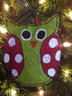 Hey, I found this really awesome Etsy listing at https://www.etsy.com/listing/115109472/owl-christmas-ornament