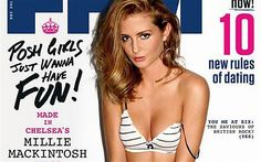 """Why do reality TV stars feel the need to pose near-naked in lads' mags? From Made in Chelsea's Millie Mackintosh to Geordie Shore's Holly Hagan, why do female reality stars let themselves be squeezed into a """"toff girl"""" or """"chav girl"""" stereotype – with no clothes on, asks Holly Baxter.  Millie Mackintosh on the FHM December cover: 'Posh girls just wanna have fun'"""