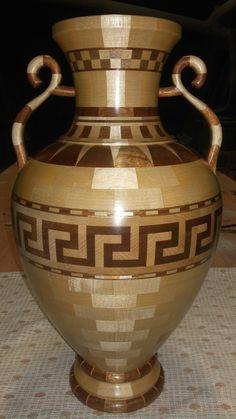 Wooden Greek amphora.