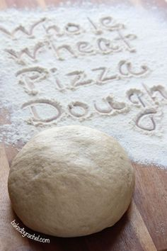 Easy Whole Wheat Pizza Dough Recipe ~ A healthier alternative with the same great results