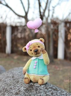 Мила))) - бирюзовый,мишки тедди,мишка тедди,мишка ручной работы,мишка девочка