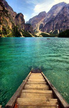 Braies Lake, Italy- Pretty blue water