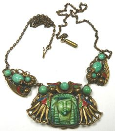 Max Neiger Egyptian Revival necklace.  Photography by Gillian Horsup.