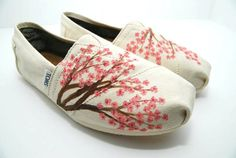 Cherry Blossom - Custom Toms!  These I would buy.... but WHY SO EXPENSIVE???
