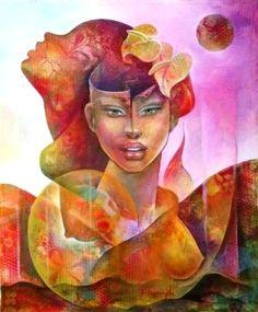 #Haitian #Art - Albert Desmangles  http://www.carrieartgallery.com/albert-desmangles-918/ (509)3702-7898