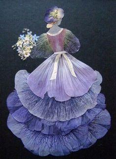 so creative! using flower petals