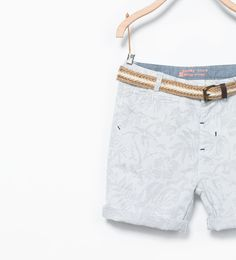 ZARA - KIDS - Tropical structured bermuda shorts