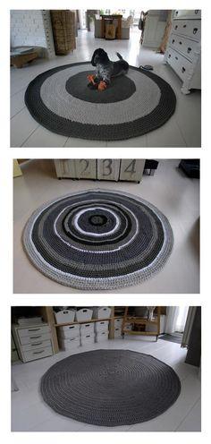 Fabulous made rugs by Joke Toonen Crochet Carpet, Crochet Rugs, Tunisian Crochet, Crochet Patterns, Yarn Projects, Crochet Projects, Fabric Yarn, T Shirt Yarn, Chunky Yarn