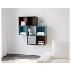 IKEA VALJE wall cabinet Optimise your storage with PALLRA boxes, or PALLRA mini chests.