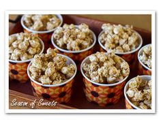 Maple Popcorn-Sneak this into the movies! #popcorn #maple