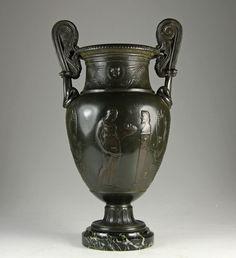 Neoklassizistische Prunk Amphore um 1880 Antike Mythologie Empire