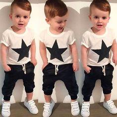 Baby Kids Outfits,Fineser Cute Newborn Infant Baby Leaves Foxs Print Pocket Hoodie Tops Sweatshirt+Pants Tracksuit Set 3-24M