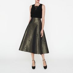 Bianco Metallic Full Skirt | New Arrivals | Collections | L.K.Bennett, London