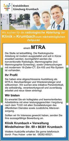 Medizinisch-Technische/r-Radiologie Assistent/in - MTRA auch in Teilzeit möglich