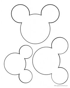 printable mickey mouse ears template - Google Search