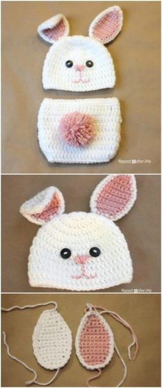 Bunny outfit - FREE patterns http://www.redheart.com/free-patterns ...