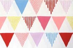 Triangle Banner fabric by Kokka