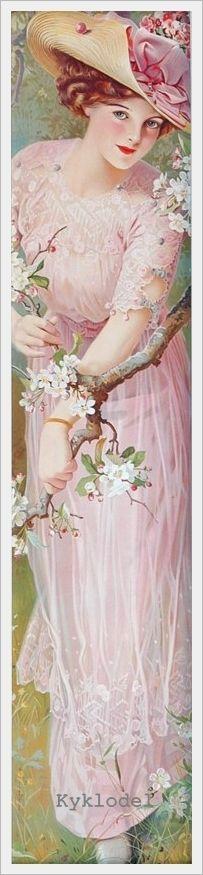 «Spring Blossoms» Jenny Villebasseyx, nee Roche (French, 1854 - 1924)