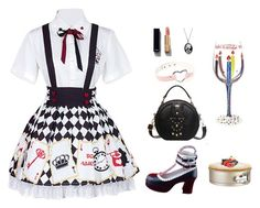 """""""Partiss Womens Alice Poker Printed Blouse Skirt Sweet Classic Lolita Dress"""" by partiss on Polyvore featuring Chanel and Bling Jewelry"""