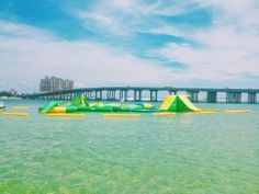 Crab Island Inflatable Water Park - one of the many things to do on Crab Island. Let the SunVenture captains take you for a relaxing, safe and fun day out on the water.