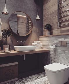 If you want to have an industrial bathroom the key factor is to take the edge of the harsh industrial look. Bathroom design Creating A Convenient Industrial Bathroom - House Topics Best Bathroom Designs, Bathroom Interior Design, Interior Modern, Rustic Bathroom Designs, Design Loft, Beautiful Bathrooms, Luxurious Bathrooms, New Homes, Home Decor