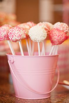 Cake Pops? they are very popular atm- not too hard to make, just a bit fiddly i guess.